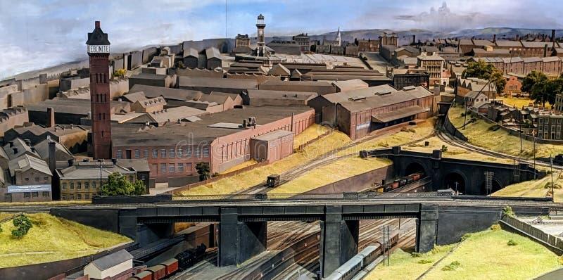 Chemin de fer ou chemin de fer modèle images libres de droits