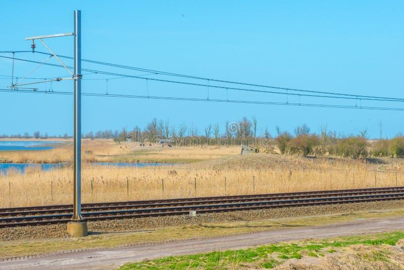 Chemin de fer par la nature photographie stock libre de droits