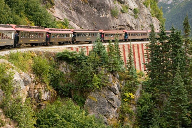 Chemin de fer scénique - Skagway, Alaska images libres de droits