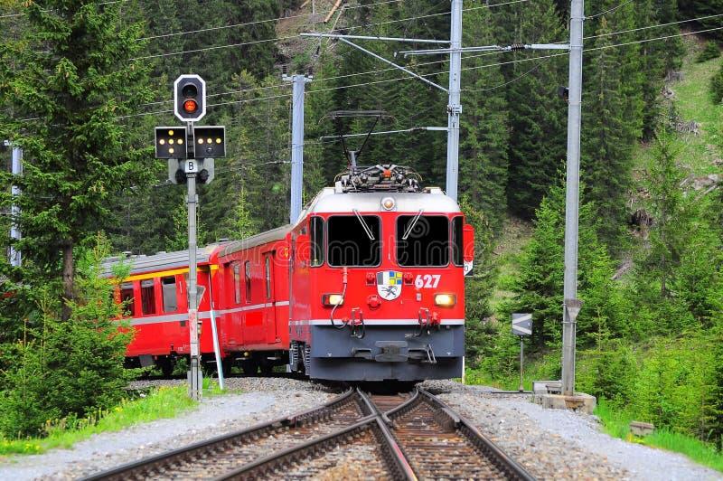 Chemin de fer suisse. photos libres de droits