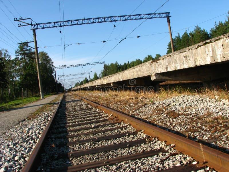 Chemin de fer sur la gare images stock