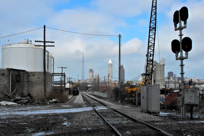 Chemin de fer vers Cleveland photo libre de droits