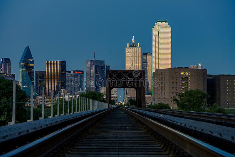 Chemin de fer vers Dallas photo stock