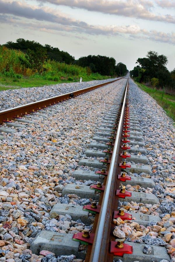 Chemin de fer vide photographie stock