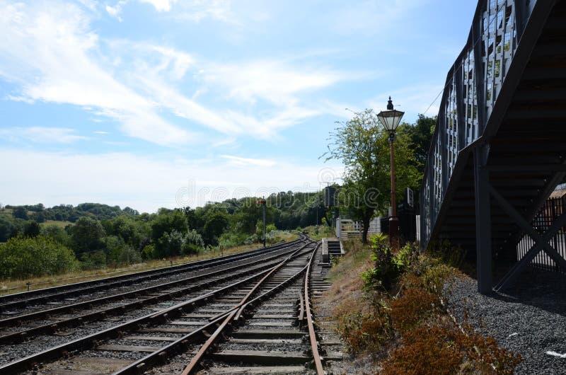 Chemin de fer vide photos libres de droits