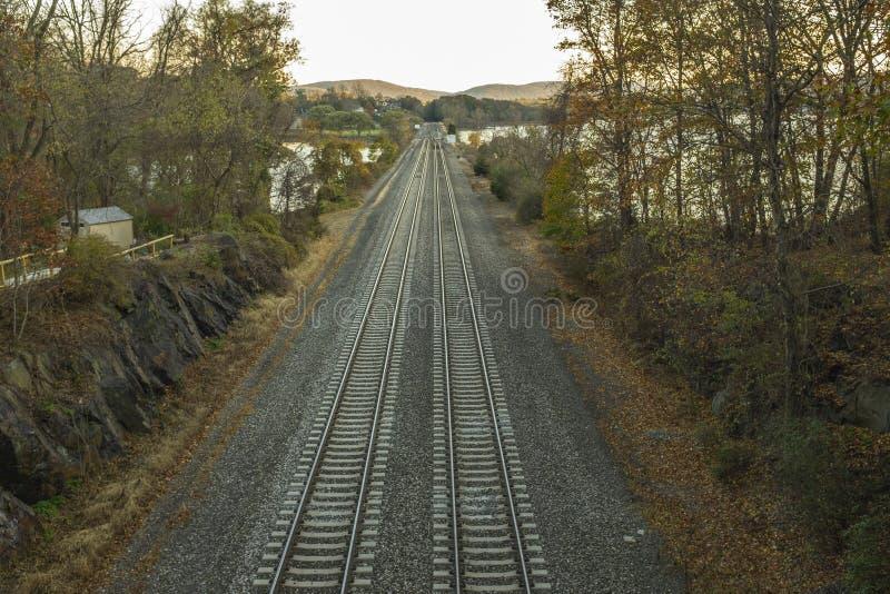 Chemin de fer vide photo stock