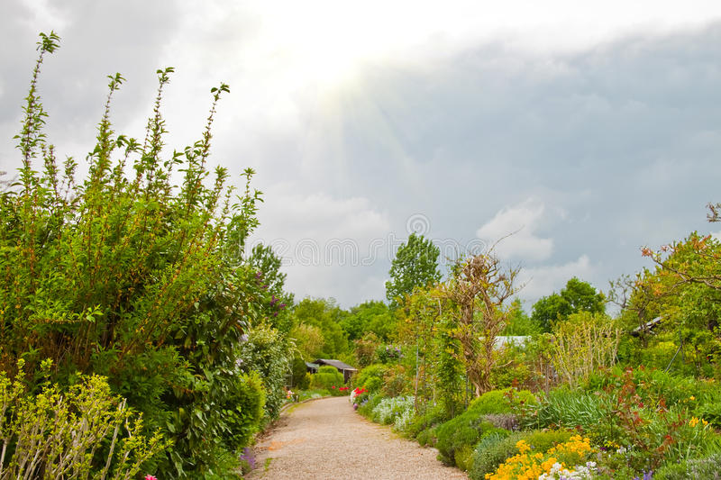 Chemin de jardin. photo stock