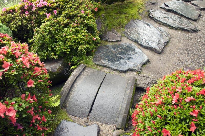 Chemin de jardin de zen image libre de droits