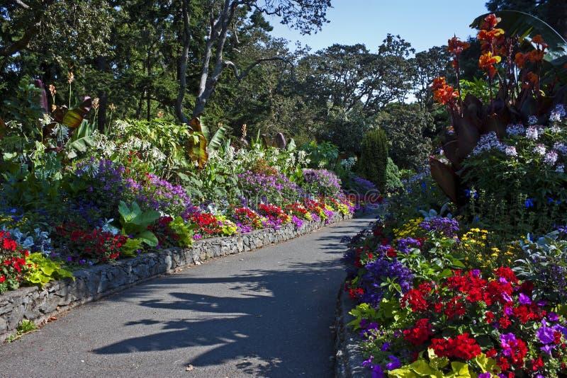 Chemin de jardin, Victoria, Colombie-Britannique photographie stock