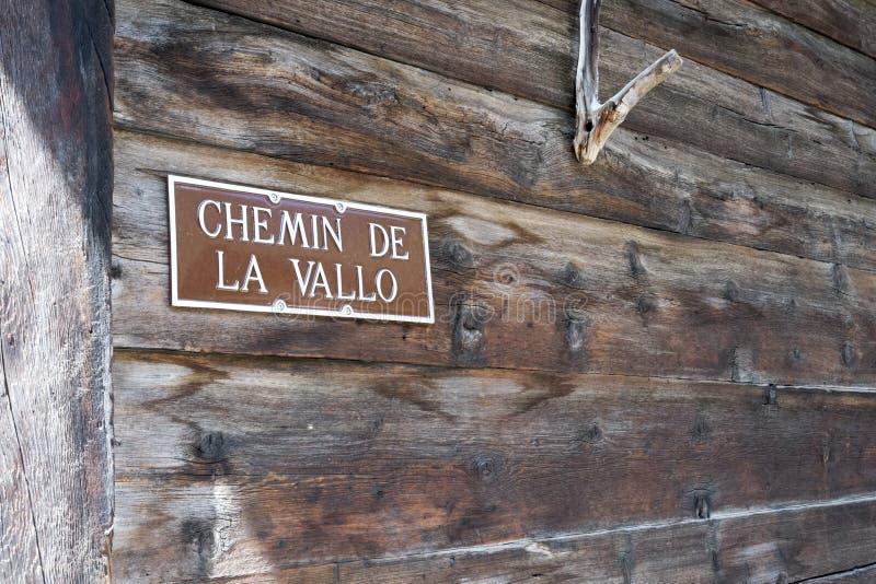 Chemin de la Vallo immagine stock libera da diritti