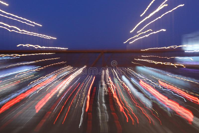 Chemin de longue exposition de lumières images stock
