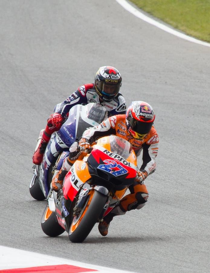 Chemin de motocyclisme photos stock