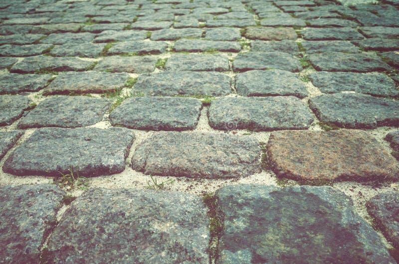 Chemin de pavé rond en parc photographie stock libre de droits