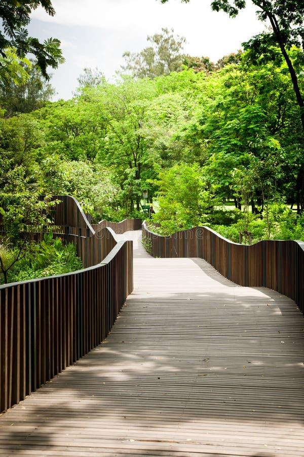 Chemin de pont dans le jardin photos libres de droits
