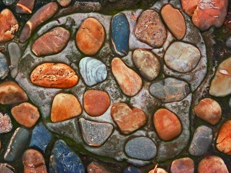Chemin de roche de fleuve images libres de droits