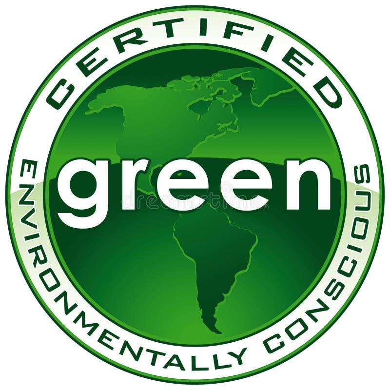 CHEMIN de sceau certifié par vert illustration stock