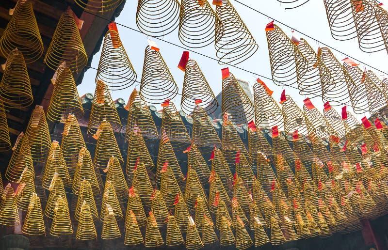 Chemin de temple d'encens de beauté pendant le jour de l'an lunaire photos libres de droits