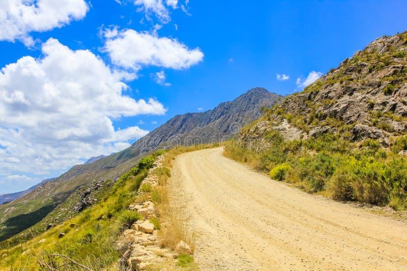 Chemin de terre en parc national de zèbre de montagne, sud A photos libres de droits