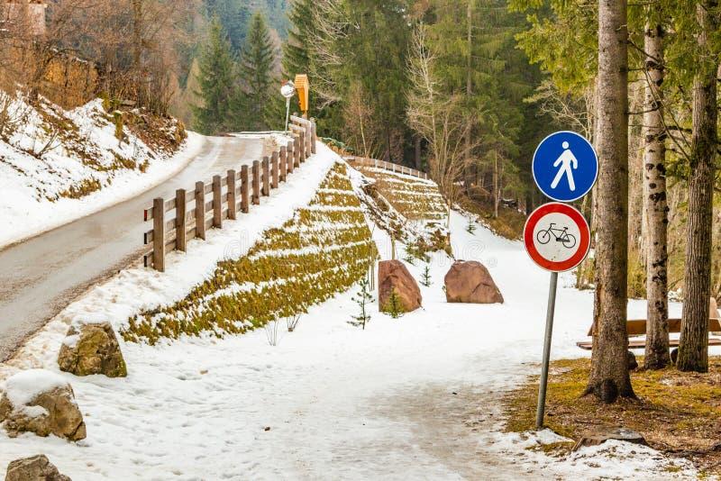 Chemin de terre de montagne photo libre de droits