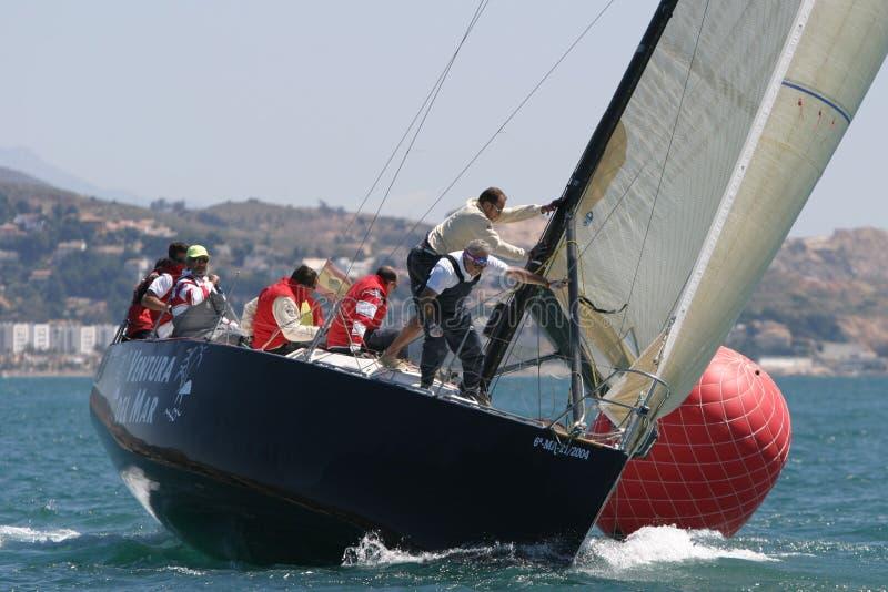 Chemin de yachts à Malaga, Espagne image libre de droits