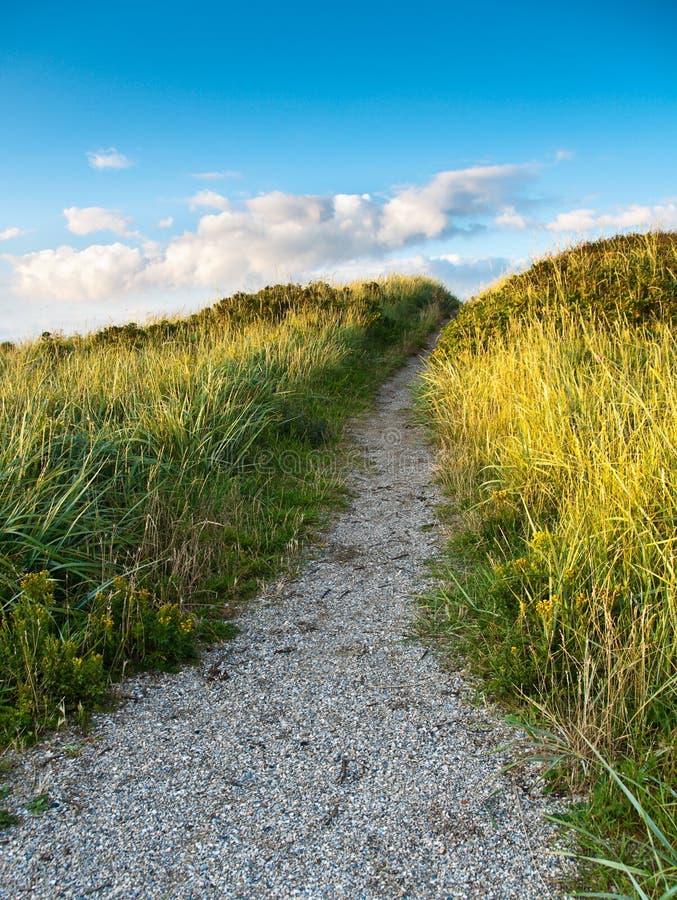Chemin en dunes photographie stock libre de droits