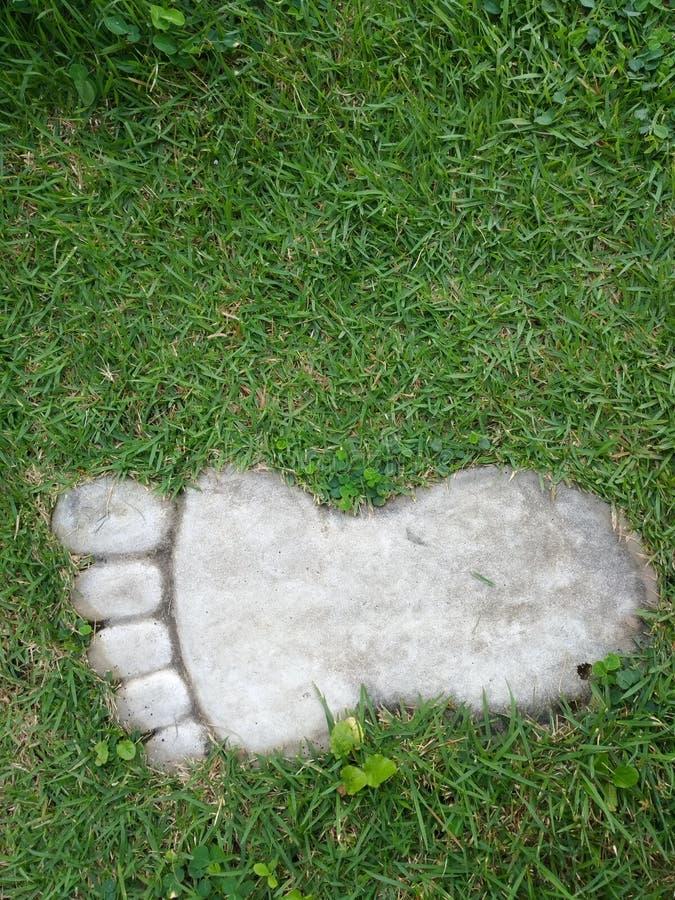 Chemin en pierre de jardin dans le format de pied image libre de droits