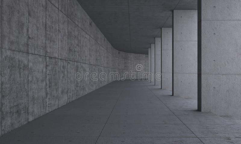 Chemin et piliers hors de béton illustration stock