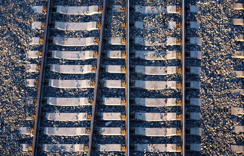 Chemin ferroviaire d'en haut photos stock