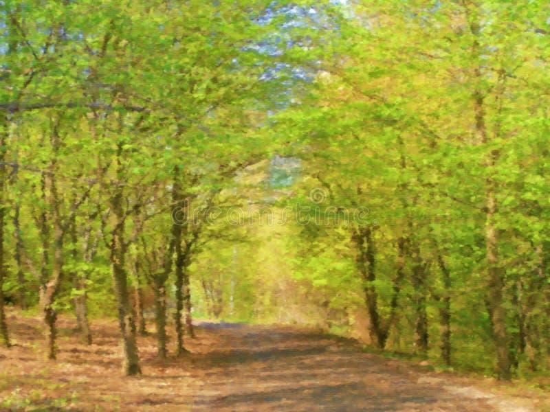 Chemin forestier illustration libre de droits
