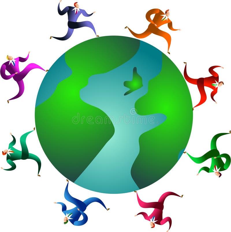 Chemin global illustration libre de droits