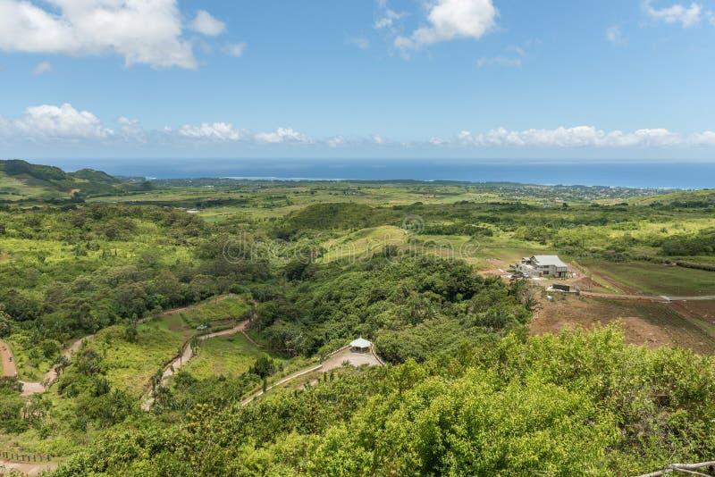 CHEMIN GRENIER, MAURICIO - 29 DE NOVIEMBRE DE 2015: Paisaje del DES Couleurs de Vallee en Mauricio Parque nacional Océano en fond fotografía de archivo libre de regalías