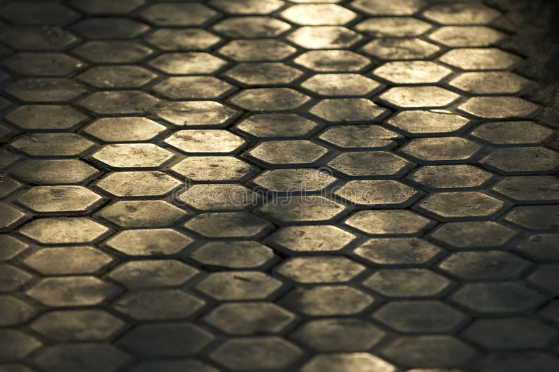 Download Chemin hexagonal image stock. Image du sunlight, répétition - 70443