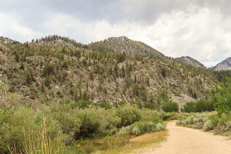 Chemin le long de montagne, la Californie images libres de droits