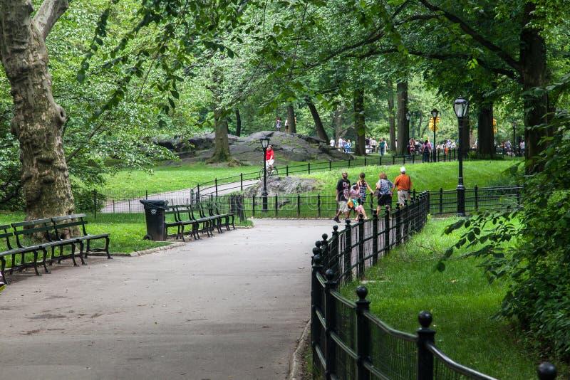 Chemin New York City de Central Park photo libre de droits