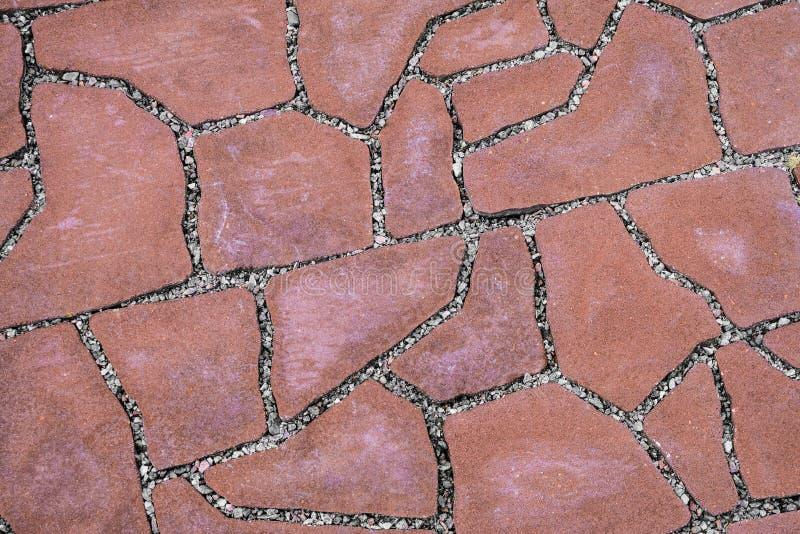 Chemin pavé de pierre carrelée image libre de droits