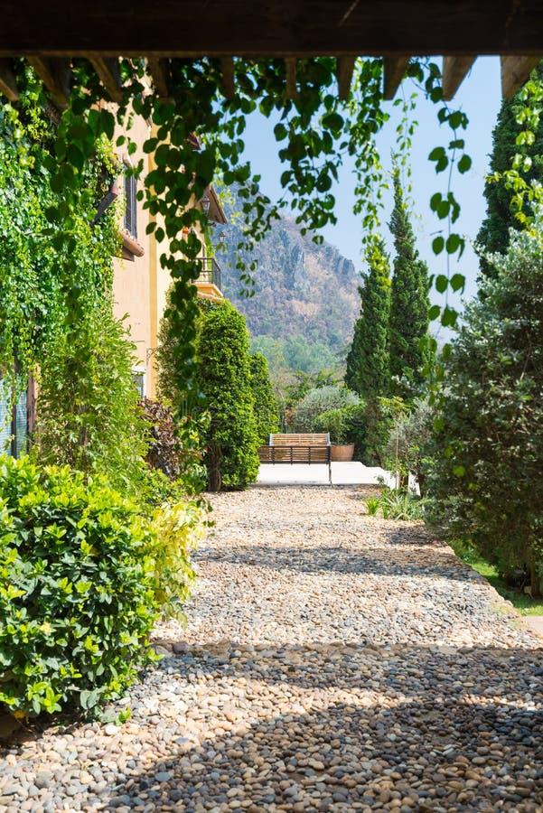 Chemin Toscane de caillou photos libres de droits