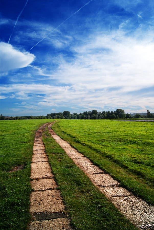 Chemin Tourne-à-droite Photographie stock