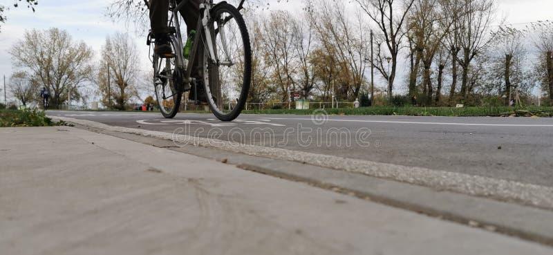 Chemin vélo automne serbia Quai Belgrade photographie stock