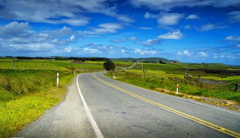 Chemin vers Invercargill Nouvelle-Zélande photographie stock libre de droits