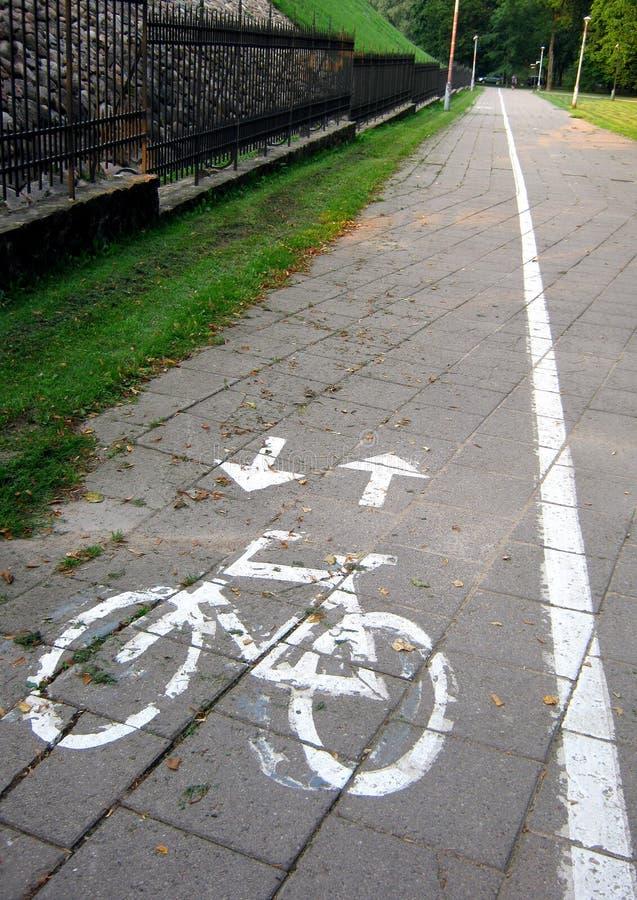 Chemin vide de vélo photos libres de droits