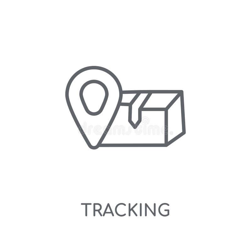 Cheminement de l'icône linéaire Concept de cheminement de logo d'ensemble moderne sur le wh illustration stock