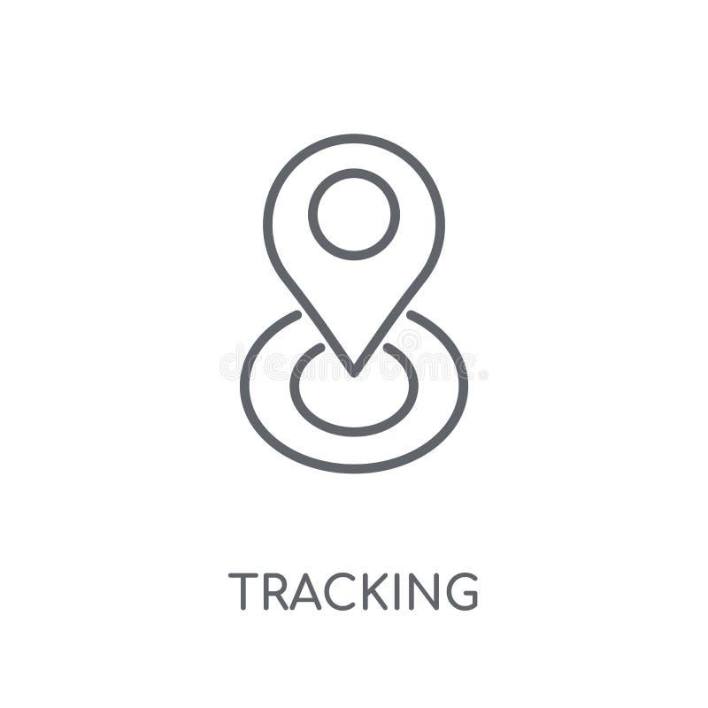 Cheminement de l'icône linéaire Concept de cheminement de logo d'ensemble moderne sur le wh illustration de vecteur