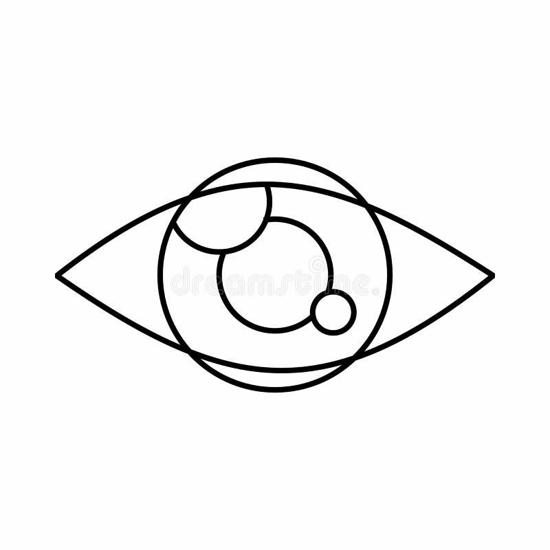 Cheminement de l'icône d'oeil, style d'ensemble illustration stock