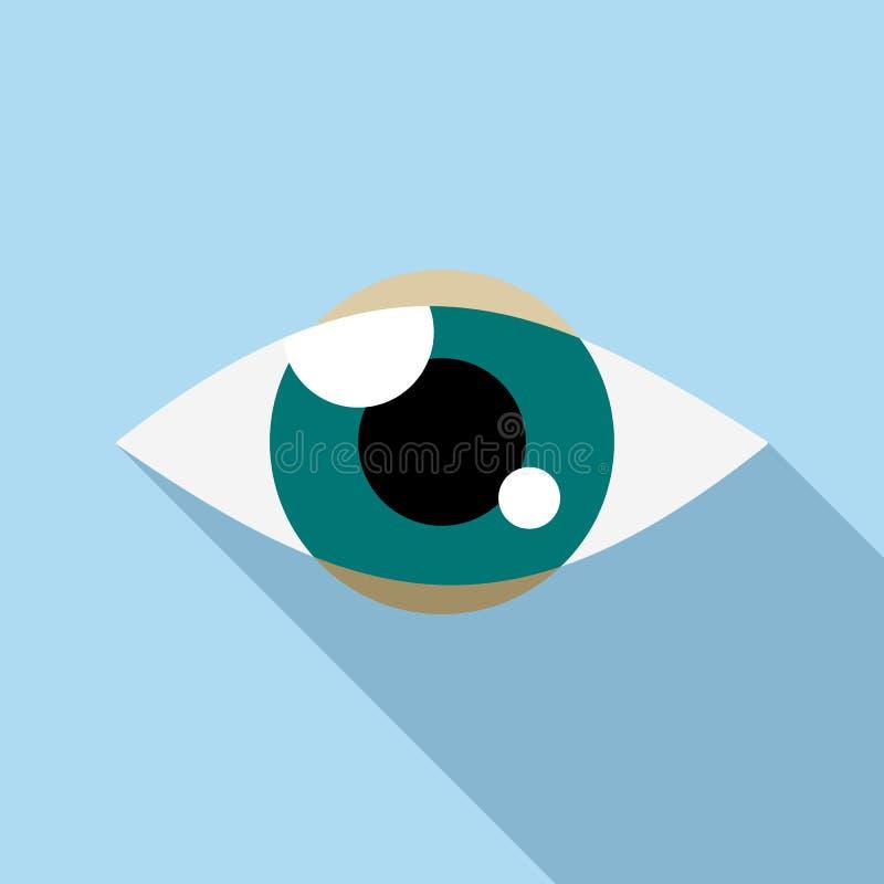 Cheminement de l'icône d'oeil, style plat illustration stock
