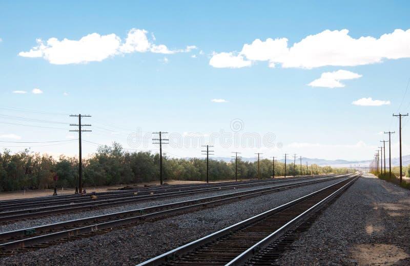 Chemins de fer sur la station de train dans le dépôt de Kelso photos libres de droits