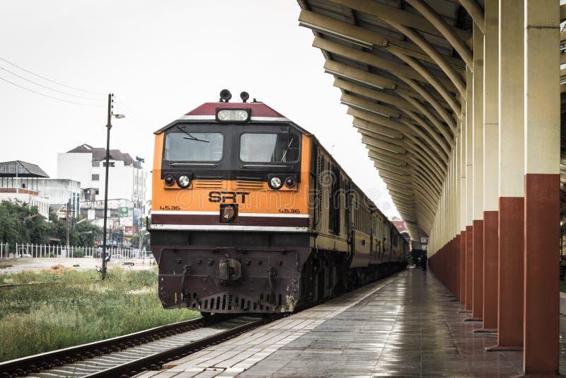 Chemins de fer thaïlandais photographie stock libre de droits
