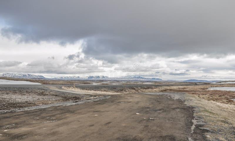 Chemins de terre de parc national de l'Islande photographie stock