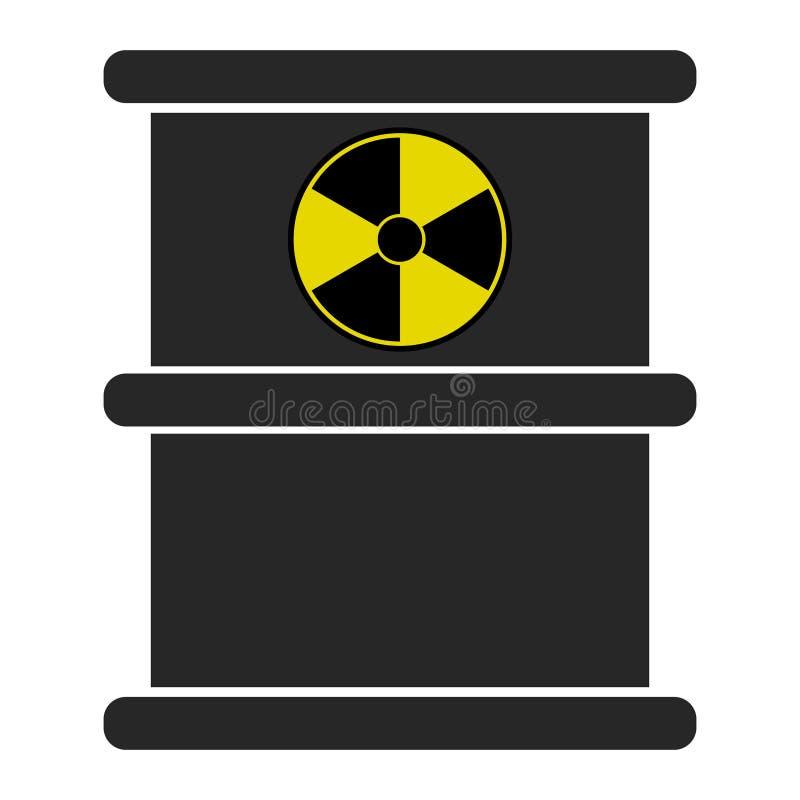 Chemisch afval zwart vat Radioactieve huisvuilemissies ecologische crisisfoto gevaar van ecologische ramp royalty-vrije illustratie