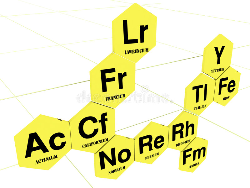 Chemisch blad royalty-vrije illustratie