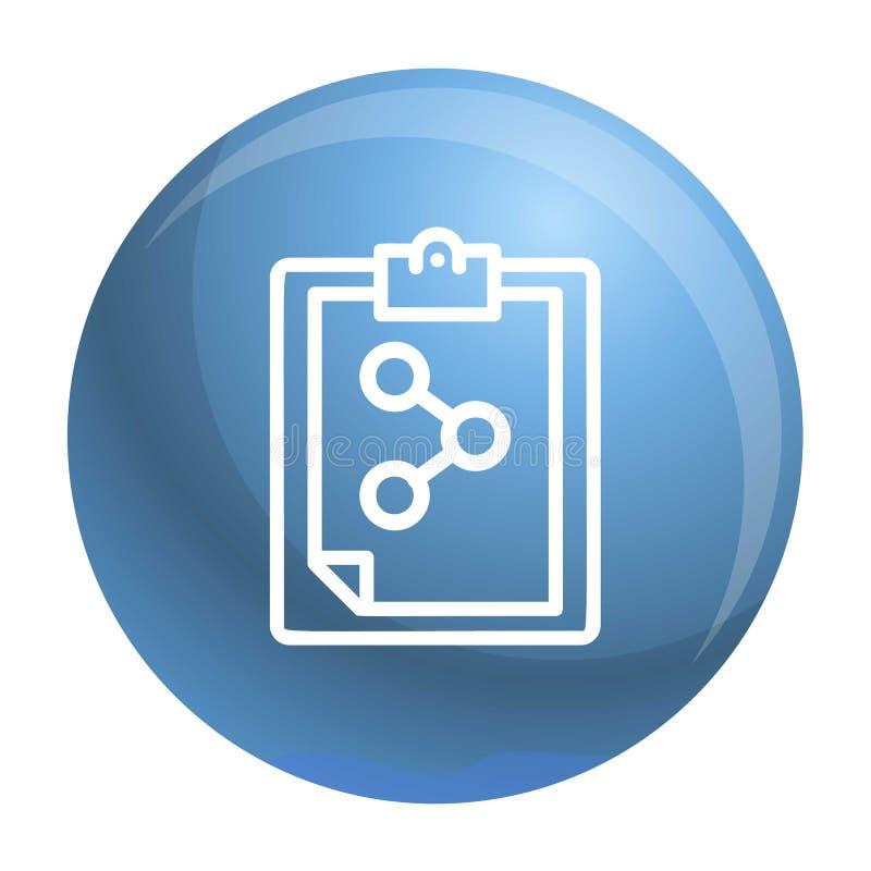 Chemisch controlelijstpictogram, overzichtsstijl vector illustratie